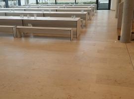 Mensa in Schwetzingen - Bodenfliesen - Sanierung, Renovierung und Neubau. SCHÄTZ Fliesenverlegung in Dettenheim.